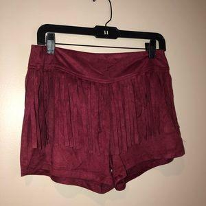 NWT🔥Burnt Orange Frayed Shorts